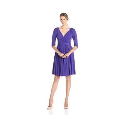 BCBGMax Azria レディース Cruz The ミッド スリーブ Pleated ドレス, Persian ブルー, ラージ(海外取寄せ品)