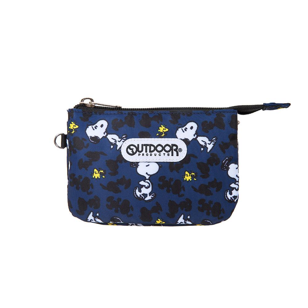【OUTDOOR】SNOOPY聯名款剪影版三層零錢包-深藍色 ODP19D05NY