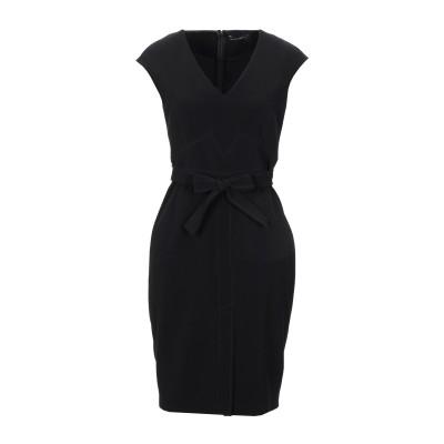 MARIELLA ROSATI ミニワンピース&ドレス ブラック 42 ポリエステル 89% / ポリウレタン 11% ミニワンピース&ドレス
