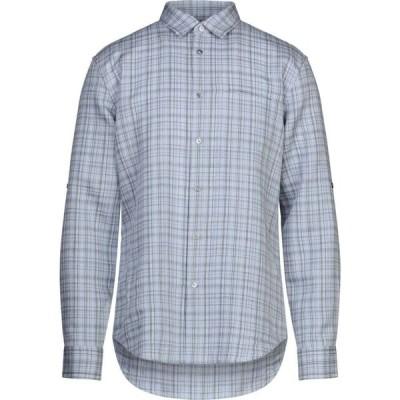 ジョン バルベイトス JOHN VARVATOS メンズ シャツ トップス checked shirt Sky blue