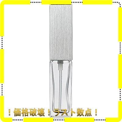 ヤマダアトマイザー 15491 メンズアトマイザー角ビン クリア キャップ ヘアラインシルバー 単品 1個 (x 1)