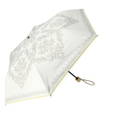 ルナジュメール UV+1級遮光+晴雨兼用 ダマスク柄折傘