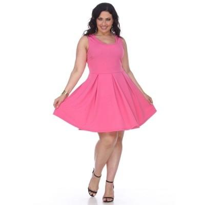 ホワイトマーク ワンピース トップス レディース Women's Plus Size Crystal Dress Pink
