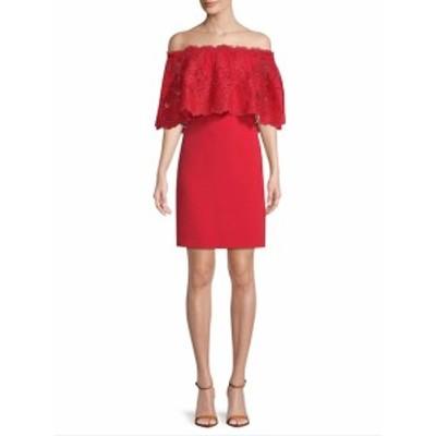 ベルバイバッジリーミシュカ レディース ワンピース Off-The-Shoulder Lace Sheath Dress