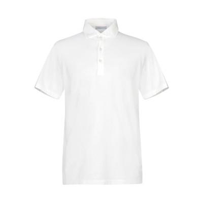 グラン サッソ GRAN SASSO ポロシャツ ホワイト 52 コットン 91% / ポリウレタン® 9% ポロシャツ