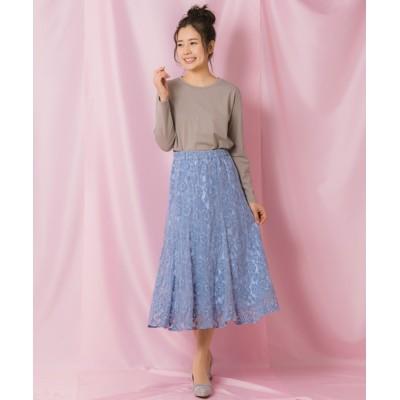 Rewde / モールレースフレアスカート(1R10-01191) WOMEN スカート > スカート