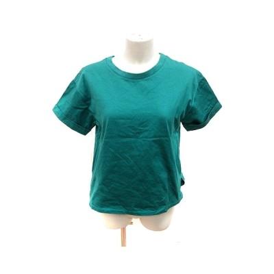 【中古】イエナ スローブ IENA SLOBE カットソー Tシャツ クルーネック 半袖 F 緑 グリーン /RT レディース 【ベクトル 古着】