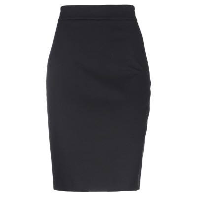 ブルーガール ブルマリン BLUGIRL BLUMARINE ひざ丈スカート ブラック 40 レーヨン 65% / ナイロン 32% / ポリウレタ
