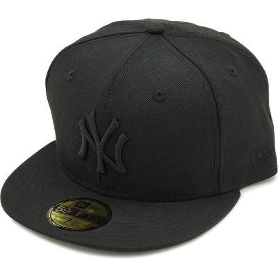 ニューエラ キャップ NEWERA CAP MLB カスタム 59FIFTY ニューヨーク・ヤンキース ブラック ブラック 11308579 12336664