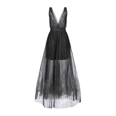 SOALLURE ロングワンピース&ドレス ブラック 38 ナイロン 100% / ポリウレタン / ポリエステル ロングワンピース&ドレス
