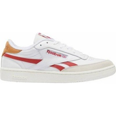 リーボック メンズ スニーカー シューズ Reebok Men's Club C Revenge Tennis Shoes White/Red
