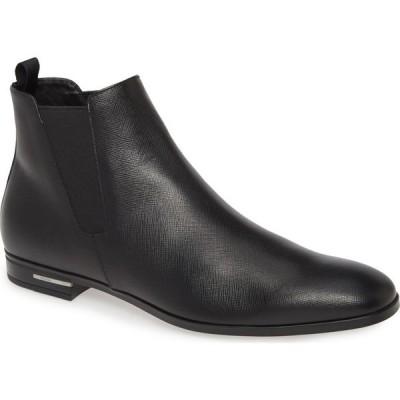 プラダ PRADA メンズ ブーツ チェルシーブーツ シューズ・靴 Saffiano Chelsea Boot Nero