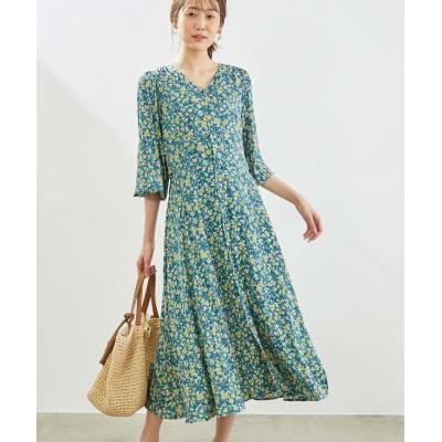 ロペピクニック/【リンクコーデ】フラワープリントワンピース/グリーン系/38