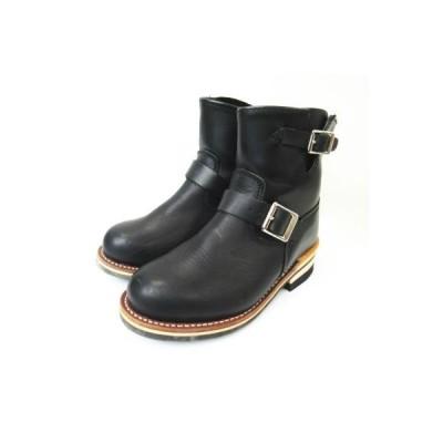 【中古】ゴット&ブレス GOD & BLESS  エンジニア レザー ショートブーツ 靴 GB-9809A 黒 ブラック 23cm レディース 【ベクトル 古着】