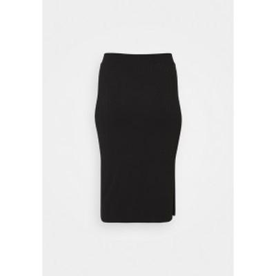 ピーシーズ カーブ レディース スカート ボトムス PCKYLIE MIDI SKIRT - Pencil skirt - black black