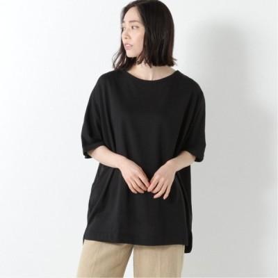 ミニ裏毛ドルマンBIGTシャツ ブラック M L