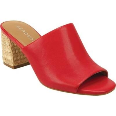 エアロソールズ Aerosoles レディース サンダル・ミュール シューズ・靴 Erie Heeled Slide Red Leather