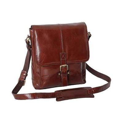 Ashwood Leather Mens Chelsea Veg Tan Benjamin A4 Messenger Bag - Chestnut 並行輸入品
