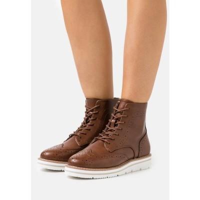アンナフィールド レディース 靴 シューズ Lace-up ankle boots - cognac