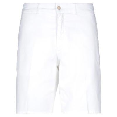 HARMONT&BLAINE バミューダパンツ ホワイト 46 コットン 97% / ポリウレタン 3% バミューダパンツ