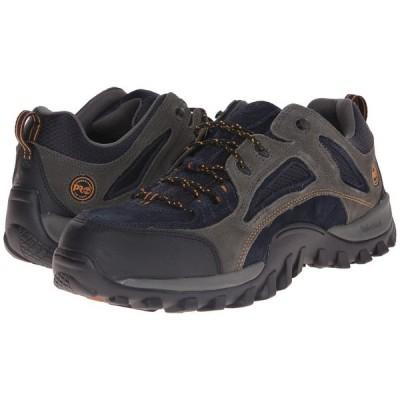 ティンバーランド Timberland PRO メンズ スニーカー シューズ・靴 Mudsill Low Steel Toe Titanium/Sapphire Leather With Mesh