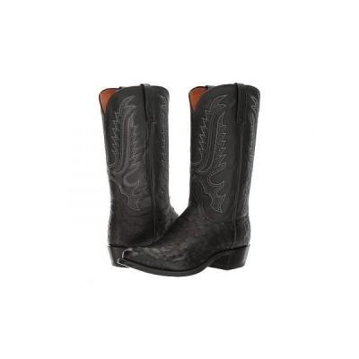 Lucchese ルケーシー メンズ 男性用 シューズ 靴 ブーツ ウエスタンブーツ Hueco - Black