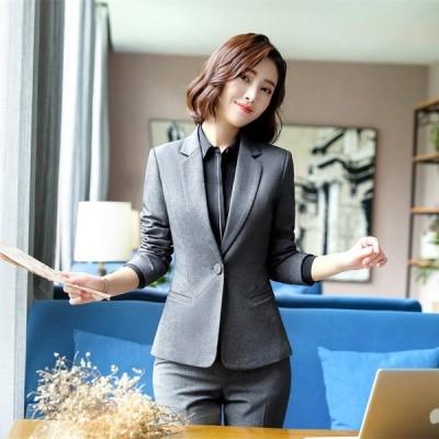 Professional Wear Women Fashion Interview Formal Workwear Korean Casual Suit