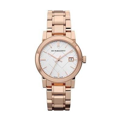 Swiss Rose Gold Silver Date Dial 34mm Women Wrist Watch The City BU9104 並行輸入品