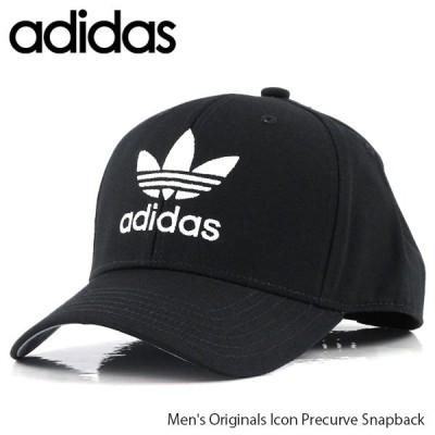 adidas アディダス オリジナル アイコン プリカーブ スナップバック キャップ 帽子 CL5201 Black/White