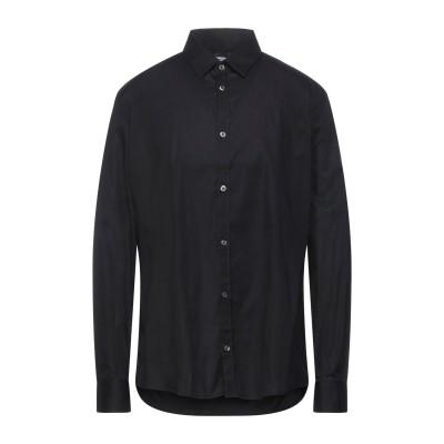 グレイ ダニエレ アレッサンドリーニ GREY DANIELE ALESSANDRINI シャツ ブラック 43 コットン 97% / ポリウレタン