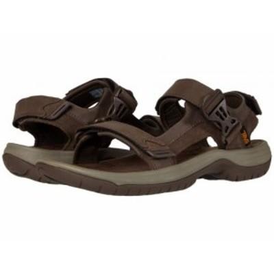 Teva テバ メンズ 男性用 シューズ 靴 サンダル Tanway Leather Chocolate Brown【送料無料】