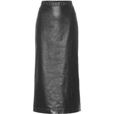 ドリス ヴァン ノッテン Dries Van Noten レディース ひざ丈スカート スカート Faux Leather Midi Skirt Black