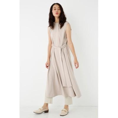 【シェルターセレクト】 ウエストタイレイヤードワンピース(Waist Tie Layered Dress) レディース L/BEG1 FREE SHEL'TTER SELECT