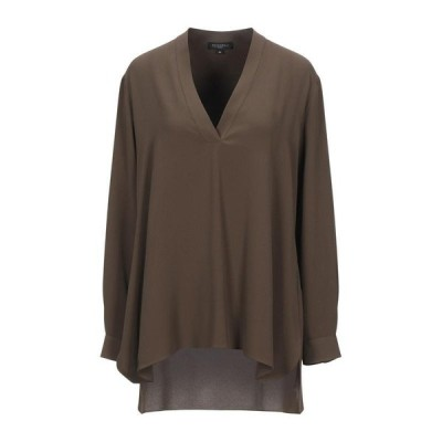 ANTONELLI ブラウス  レディースファッション  トップス  シャツ、ブラウス  長袖 カーキ