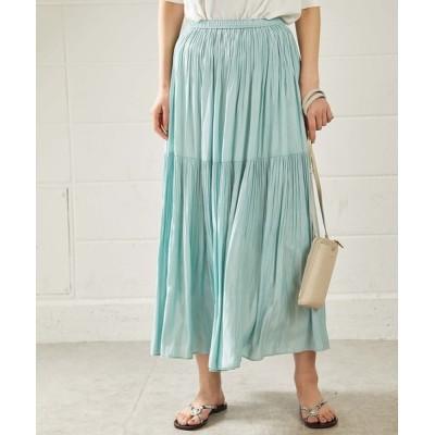 OUVRAGE CLASSE / 2段プリーツスカート WOMEN スカート > スカート
