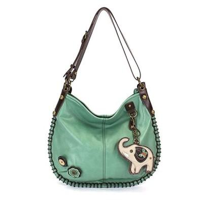 CONVERTIBLE Hobo ラージ Bag ELEPHANT Peather ティール グリーン w/コイン パース(海外取寄せ品)