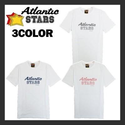 【Atlantic STARS】 アトランティックスターズ 半袖Tシャツ ロゴ プリント メンズ ステッチ シンプル ヴィンテージ感