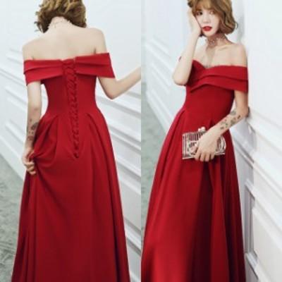 パーティードレス ワンピース お呼ばれ ローブデコルテ 結婚式 二次会 クロスデザイン ロングドレスきれいめ 20代 30代 40代