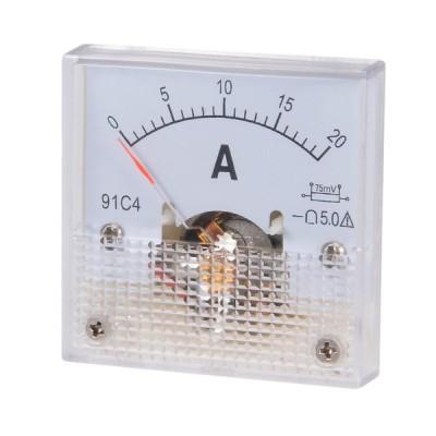 uxcell DC電流パネルメーター アナログ電流計 DC20A 91C4-A 電子回路 調整可能 テスト