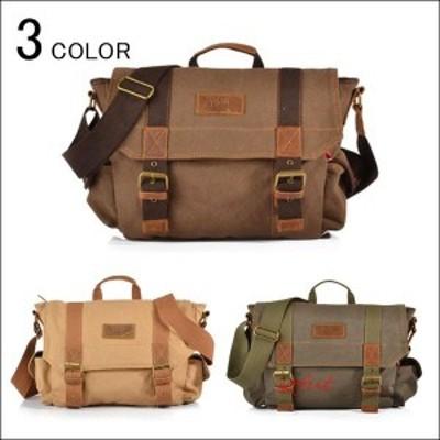 ショルダーバッグ ビジネスバッグ メンズ レディース 斜めがけ 肩掛け 帆布バッグ 大容量 通勤 通学 出張 旅行 軽量 アウトドア iPad