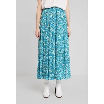 カフェ スカート レディース ボトムス ILLY SKIRT - Maxi skirt - mosaic blue