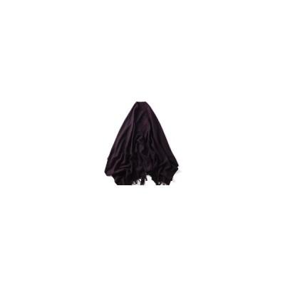 (ダークパープル)LYZA 200CM女性ウィンターウールスカーフソリッドラージサイズスカーフとショールブランケットデュアルユース