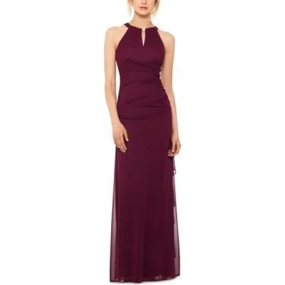 ベッツィアンドアダム Betsy & Adam レディース パーティードレス ワンピース・ドレス Petite Ruched Embellished Gown Garnet Red