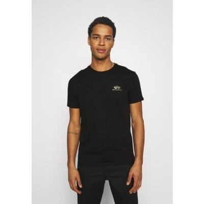 アルファインダストリーズ メンズ ファッション FOIL EXCLUSIVE - Print T-shirt - black/yellow gold
