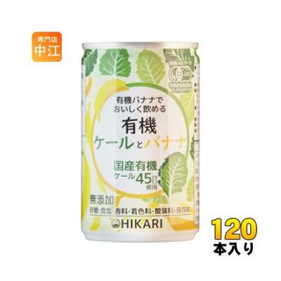 光食品 有機ケールとバナナ 160g 缶 120本 (30本入×4 まとめ買い) 〔野菜ジュース〕