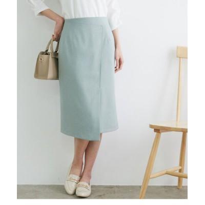 【セットアップ対応】【UVカット&マシンウォッシャブル】リネンライクラップスカート