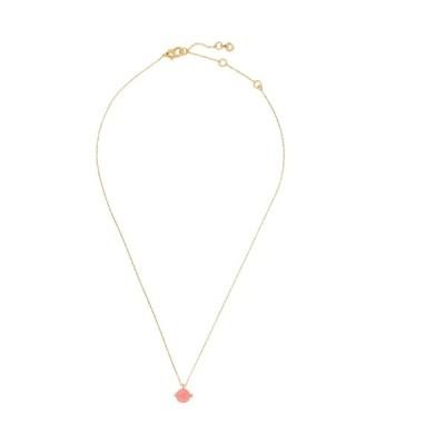 ケイト スペード レディース ネックレス・チョーカー・ペンダントトップ アクセサリー duo prong pendant necklace NEONPINK