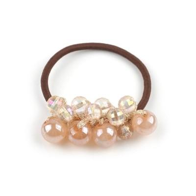 (cream dot/クリームドット)即華やかスタイルが完成するボリュームビーズヘアゴム/レディース ピンク