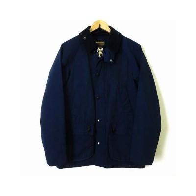 【中古】バブアー Barbour ジャケット BEDALE ビデイル 60/40 ナイロンジャケット 1401001 ノンオイル M 紺 ネイビーブルー 国内正規品 美品 メンズ