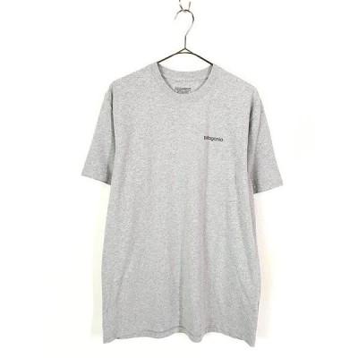 古着 17s Patagonia フィッツロイ バック ロゴ 両面 プリント Tシャツ グレー M 古着